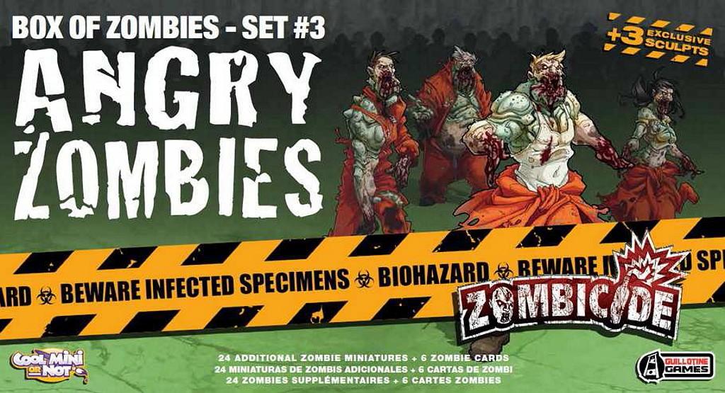 zombicide box of zombies angry zombies juego de mesa